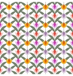 Tulips on white seamless back ground vector