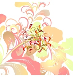 Colorful floral card vector