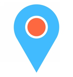 Map pin sign location icon marker point button vector