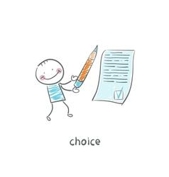 choice vector image