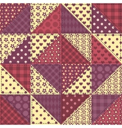 Seamless patchwork claret color pattern 1 vector
