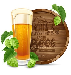 Beer and hops vector