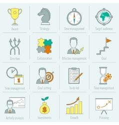 Business strategy planning icon flat line vector