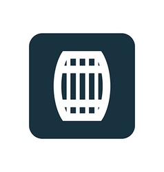 Barrel icon rounded squares button vector