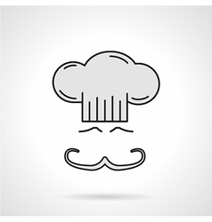 Chef face flat color icon vector