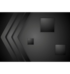 Dark abstract corporate tech background vector