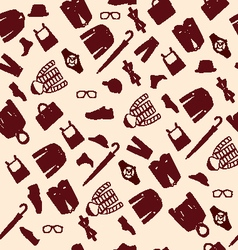 Pattern fashionable mens wear background vector