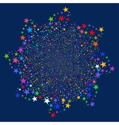 Fireworks star flower vector