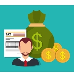 Government taxes payment vector