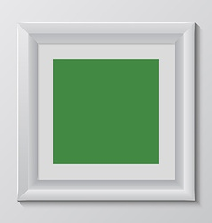 Empty colorful frame on wall vector