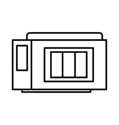 Inkjet printer cartridge icon outline style vector