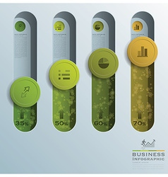 Business infographic circle button tube vector