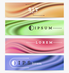 Abstract industrial banners set vector