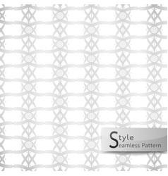 Abstract seamless pattern lattice lotus ribbon vector