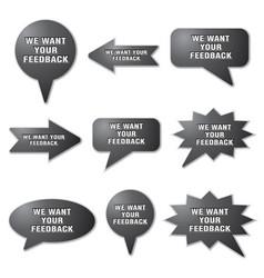 Adverising feedback banners vector