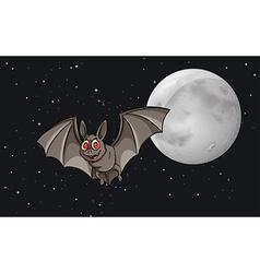 Bat in the sky vector image vector image
