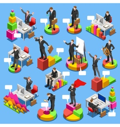 Businessman Set Isometric People vector image vector image