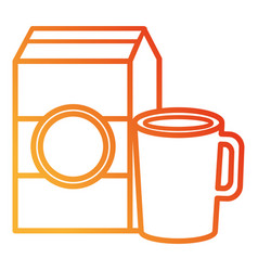 Coffee cup with milk box vector