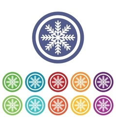 Cold signs colored set vector
