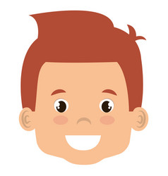 Cute and little boy head vector