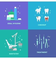 Dental care icons vector image vector image