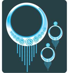 earrings vector image vector image