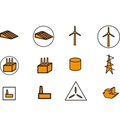 Energy electricity power icons vector image vector image