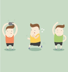 Exercise by yourself vector image vector image