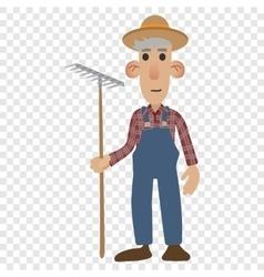 Farmer cartoon icon vector