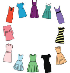 Fashion dresses for girl vector image