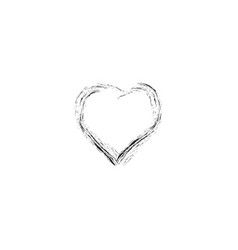 heart black on white background sign vector image vector image