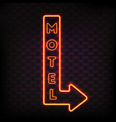 luminous motel marker composition vector image vector image