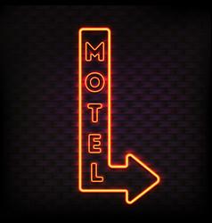 Luminous motel marker composition vector