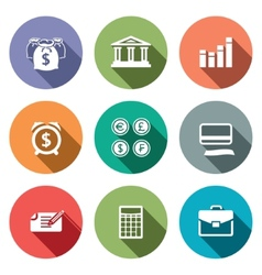 Money finance icons set vector image vector image
