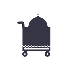 Push food cart silhouette vector