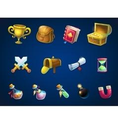 Set items for game user interface atlantis ruins vector