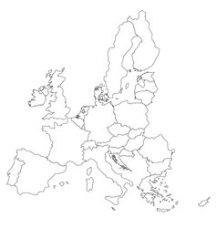 Simple all european union countries in one map vector