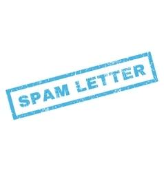 Spam letter rubber stamp vector