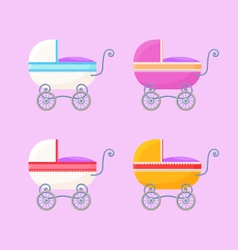 Vintage Baby Carriages vector image