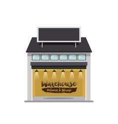 warehouse storage design vector image