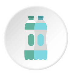 Water bottle icon circle vector