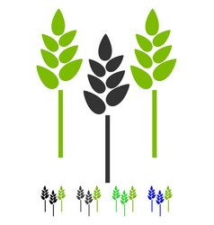 wheat ears flat icon vector image vector image