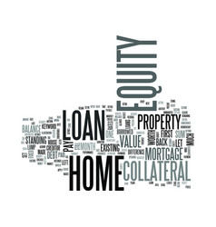 z home equity loan rate text word cloud concept vector image