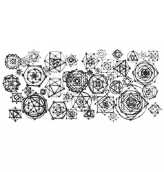 Sacred geometry mandalas background vector