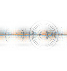 Abstract technological halftone wave background vector