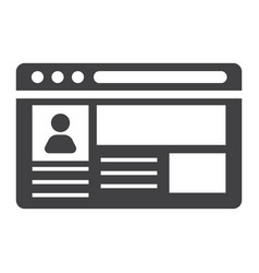 account solid icon social media and website vector image