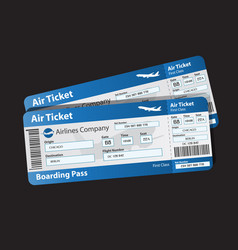 pattern boarding pass vector image
