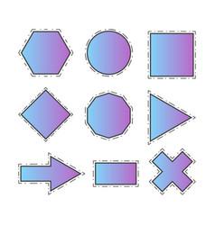 Modern geometric line shapes set vector