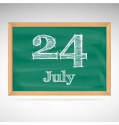 July 24 day calendar school board date vector