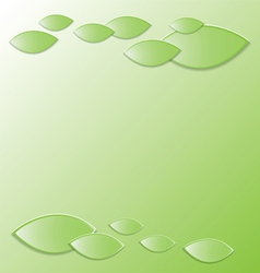 Green background with fresh leaves vector image